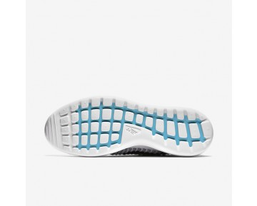 Nike Roshe Two Flyknit Mens Shoes Wolf Grey/White/Gamma Blue/Black Style: 844833-002
