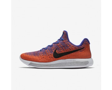 Nike LunarEpic Low Flyknit 2 Mens Shoes Paramount Blue/Max Orange/Hyper Orange/Black Style: 863779-401
