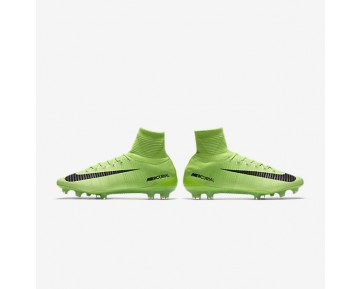 Nike Mercurial Superfly V FG Mens Shoes Electric Green/Ghost Green/White/Black Style: 831940-305