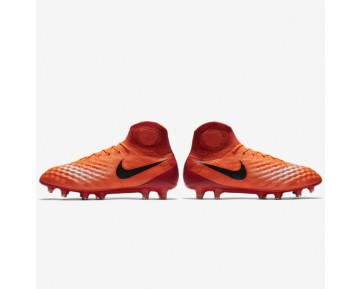 Nike Magista Obra II FG Mens Shoes Total Crimson/University Red/Bright Mango/Black Style: 844595-806