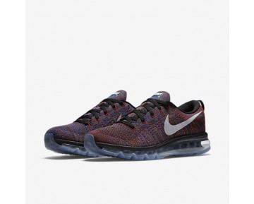 Nike Flyknit Air Max Mens Shoes Black/Medium Blue/Team Red/White Style: 620469-016