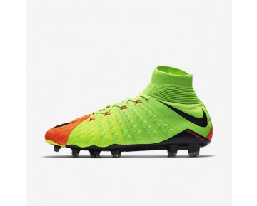 Nike Hypervenom Phantom 3 DF FG Mens Shoes Electric Green/Hyper Orange/Volt/Black Style: 860643-308