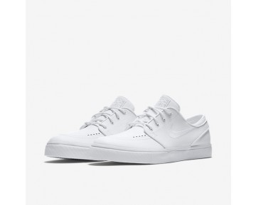 Nike SB Zoom Stefan Janoski Leather Mens Shoes White/Wolf Grey/White Style: 616490-110
