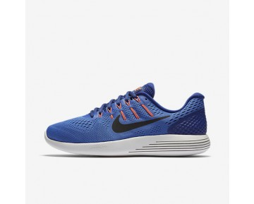 Nike LunarGlide 8 Mens Shoes Medium Blue/Deep Royal Blue/Hyper Orange/Black Style: 843725-403
