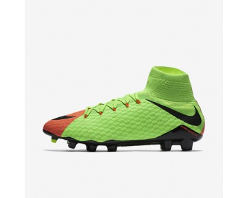 Nike Hypervenom Phatal 3 DF FG Mens Shoes Electric Green/Hyper Orange/Volt/Black Style: 852554-308