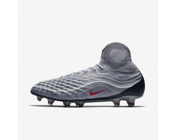 Nike Magista Obra II SE FG Mens Shoes Cool Grey/Wolf Grey/White/Varsity Red Style: 848647-060