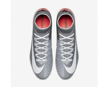 Nike Mercurial Superfly V FG Mens Shoes Wolf Grey/Pure Platinum/Infrared/White Style: 852512-010