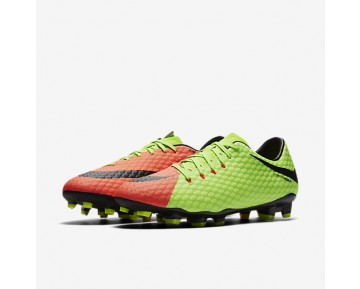 Nike Hypervenom Phelon 3 FG Mens Shoes Electric Green/Hyper Orange/Volt/Black Style: 852556-308