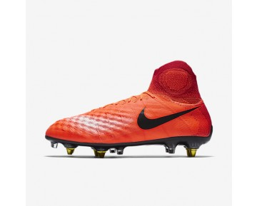 Nike Magista Obra SG-PRO Anti Clog Traction Mens Shoes Total Crimson/University Red/Bright Mango/Black Style: 869482-806