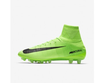 Nike Mercurial Superfly V AG-PRO Mens Shoes Electric Green/Ghost Green/White/Black Style: 831955-305