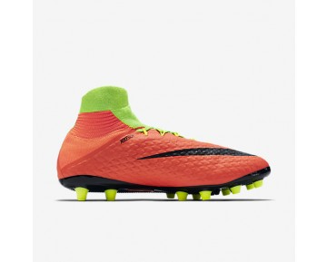 Nike Hypervenom Phatal 3 DF AG-PRO Mens Shoes Electric Green/Hyper Orange/Volt/Black Style: 860644-308