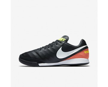 Nike Tiempo Mystic V IC Mens Shoes Black/Hyper Orange/Volt/White Style: 819222-018