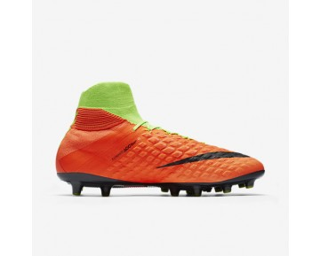 Nike Hypervenom Phantom 3 DF AG-PRO Mens Shoes Electric Green/Hyper Orange/Volt/Black Style: 852550-308