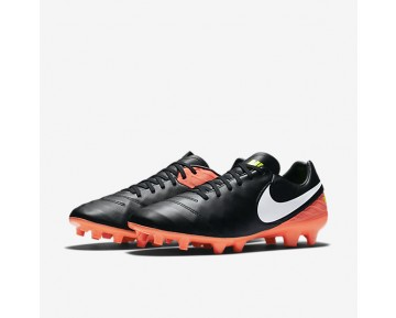 Nike Tiempo Mystic V FG Mens Shoes Black/Hyper Orange/Volt/White Style: 819236-018