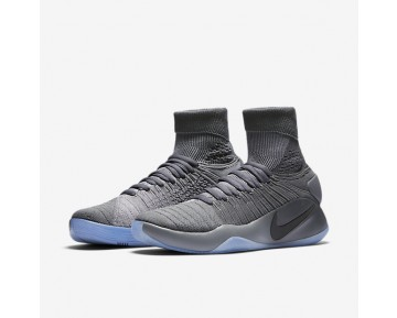 Nike Hyperdunk 2016 Flyknit Mens Shoes Dark Grey/Cool Grey/Metallic Platinum Style: 843390-002
