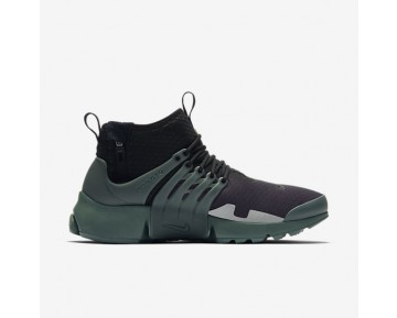 Nike Air Presto Mid Utility Mens Shoes Black/Flat Silver/Vintage Green/Vintage Green Style: AA0868-003