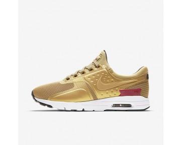 Nike Air Max Zero Womens Shoes Metallic Gold/White/Black/Varsity Red Style: 863700-700