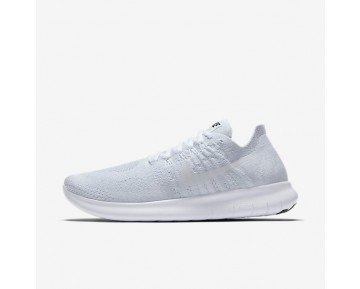 Nike Free RN Flyknit 2017 Womens Shoes White/Pure Platinum/Black/White Style: 880844-100