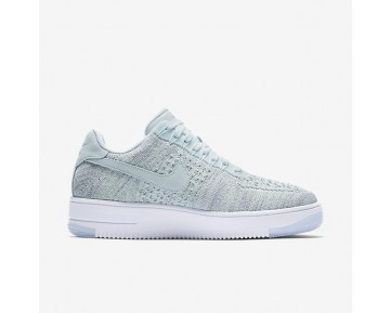 Nike Air Force 1 Flyknit Low Womens Shoes Glacier Blue/White/Vapour Green/Glacier Blue Style: 820256-400