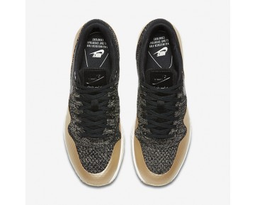 Nike Air Max 1 Ultra 2.0 Flyknit Metallic Womens Shoes Black/Metallic Gold Star/Flat Opal/Black Style: 881195-001