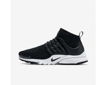 Nike Air Presto Ultra Flyknit Womens Shoes Black/White/Black Style: 835738-001