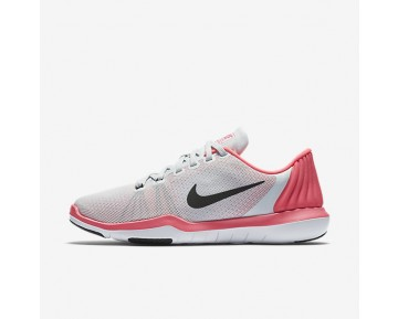 Nike Flex Supreme TR 5 Womens Shoes Pure Platinum/Racer Pink/Wolf Grey/Black Style: 852467-006