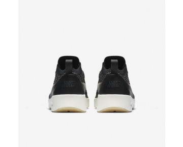 Nike Air Max Thea Ultra Flyknit Metallic Womens Shoes Black/Ivory/Metallic Gold Star Style: 881564-001
