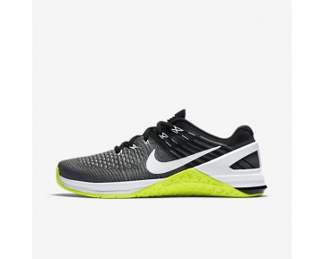 Nike Metcon DSX Flyknit Womens Shoes Dark Grey/Volt/Black/White Style: 878556-001