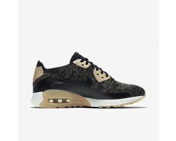 Nike Air Max 90 Ultra 2.0 Flyknit Metallic Womens Shoes Black/Black Style: 881563-001
