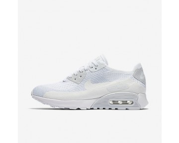 Nike Air Max 90 Ultra 2.0 Flyknit Womens Shoes White/Pure Platinum/White Style: 881109-104