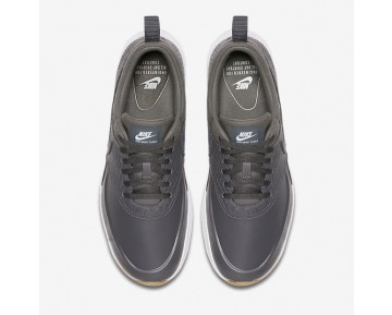 Nike Air Max Thea Premium Womens Shoes Dark Grey/Gum Yellow/White/Dark Grey Style: 616723-015