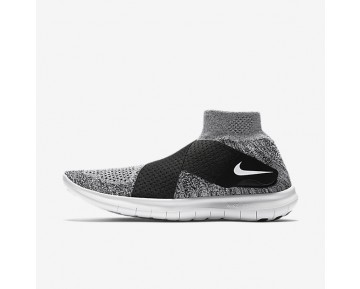 Nike Free RN Motion Flyknit 2017 Womens Shoes Wolf Grey/Black/Pure Platinum/White Style: 880846-001