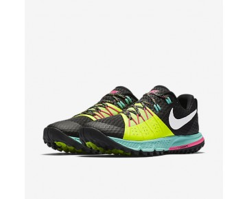 Nike Air Zoom Wildhorse 4 Womens Shoes Black/Volt/Hyper Turquoise/White Style: 880566-007