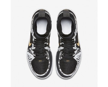 NikeCourt Flare BHM Womens Shoes White/Black/Metallic Gold Style: 848453-100