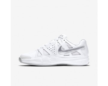 NikeCourt Air Vapor Advantage Clay Womens Shoes White/Pure Platinum/Metallic Silver Style: 819661-100