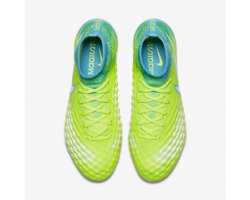 Nike Magista Obra II FG Womens Shoes Volt/Barely Volt/Chlorine Blue/White Style: 844205-717