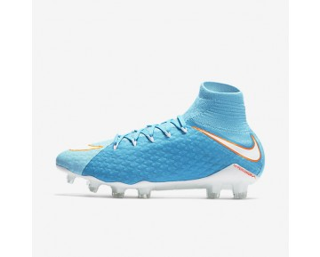 Nike Hypervenom Phatal 3 DF FG Womens Shoes Polarised Blue/Chlorine Blue/Tart/White Style: 881546-414