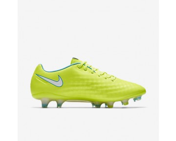 Nike Magista Opus II FG Womens Shoes Volt/Barely Volt/Chlorine Blue/White Style: 844218-717