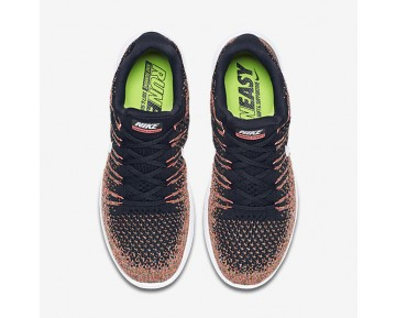 Nike LunarEpic Low Flyknit 2 Womens Shoes Black/Hot Punch/University Blue/White Style: 863780-006