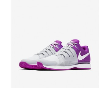 NikeCourt Zoom Vapor 9.5 Tour Clay Womens Shoes Pure Platinum/Vivid Purple/White/White Style: 649087-001