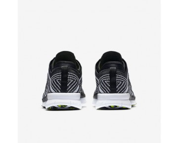 Nike Free TR 5 Flyknit Womens Shoes Black/White/Volt/Black Style: 718785-004