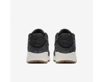Nike Air Max 90 Premium Womens Shoes Black/Sail/Gum Medium Brown/Black Style: 443817-010