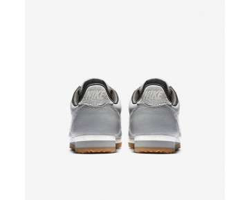 Nike Classic Cortez Leather Lux Womens Shoes Matte Silver/Sail/Gum Medium Brown/Matte Silver Style: 861660-003