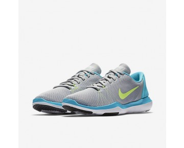 Nike Flex Supreme TR 5 Womens Shoes Wolf Grey/Chlorine Blue/Photo Blue/Ghost Green Style: 852467-005