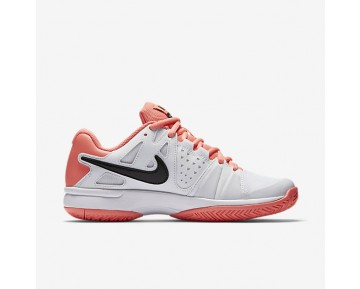 NikeCourt Air Vapor Advantage Womens Shoes White/Lava Glow/Black Style: 599364-103