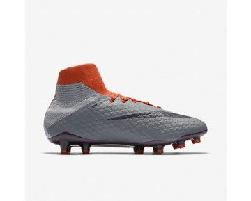 Nike Hypervenom Phatal 3 DF FG Womens Shoes Cool Grey/Max Orange/Purple Dynasty Style: 881546-058