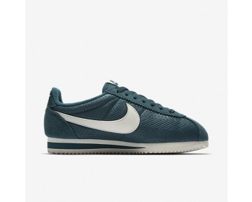 Nike Classic Cortez Textile Womens Shoes Midnight Turquoise/Sail/Sail Style: 844892-300