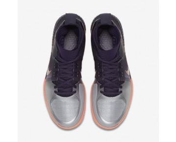 NikeCourt Flare Womens Shoes Purple Dynasty/Bright Mango/Metallic Silver/Metallic Rose Gold Style: 810964-500