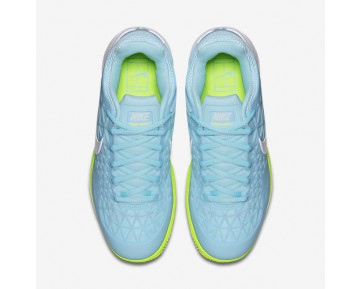 NikeCourt Zoom Cage 2 Clay Womens Shoes Still Blue/Volt/White Style: 844963-401
