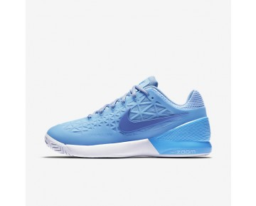 NikeCourt Zoom Cage 2 Clay Womens Shoes Ice Blue/University Blue/White/Comet Blue Style: 844963-402